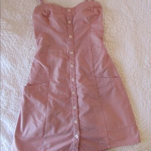 Pink button front dress